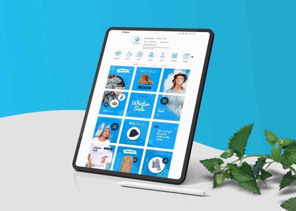 Tablet Social media profile